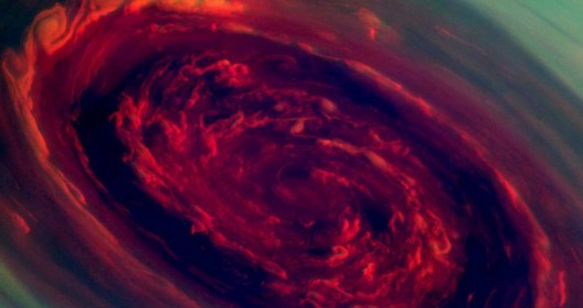 Hurricane On Saturn