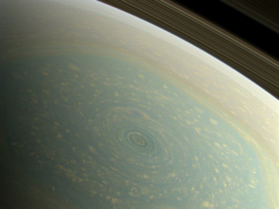 Saturn Hurricane In Real Color