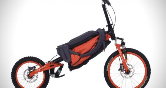 Bicycle which can fold as backpack