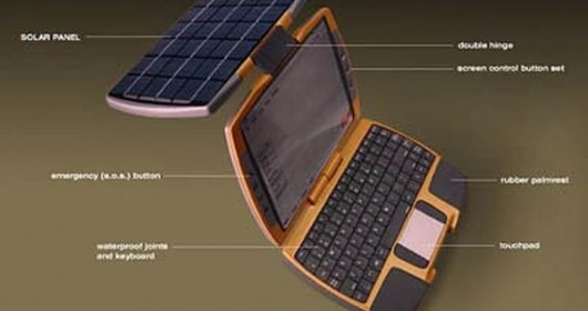 Solar Laptop Concept