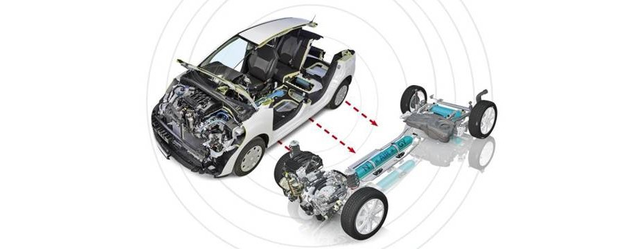 Car Powered by Compressed Air Motor