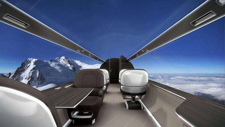 Windowless Plane with Panoramic View