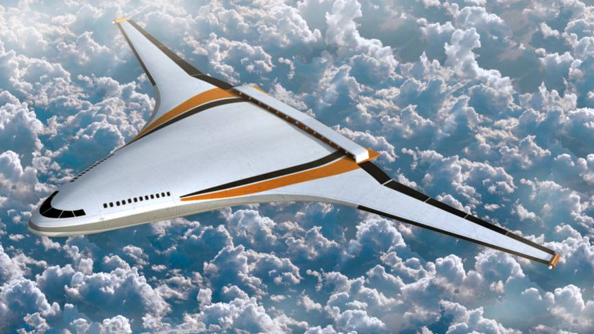 Futuristic Electric Airplane Design 3