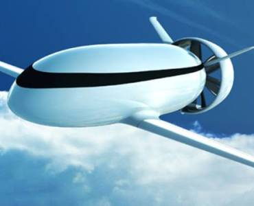 Futuristic Electric Airplane Design