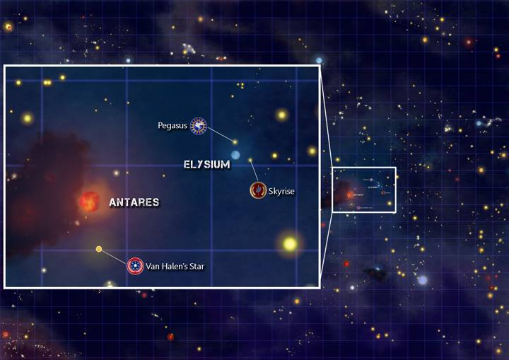 Orion Map - Star Antares