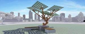 eTree - solar powered tree