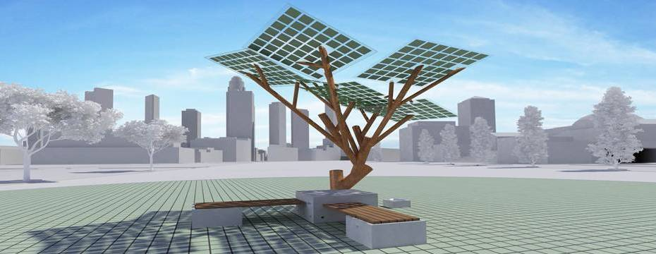 eTree - solar powered tree