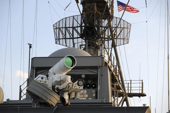 US Navy laser gun