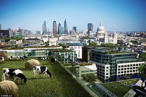city of the future britain showed how cities could look like